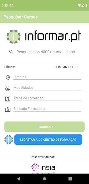 app informar cursos de formação